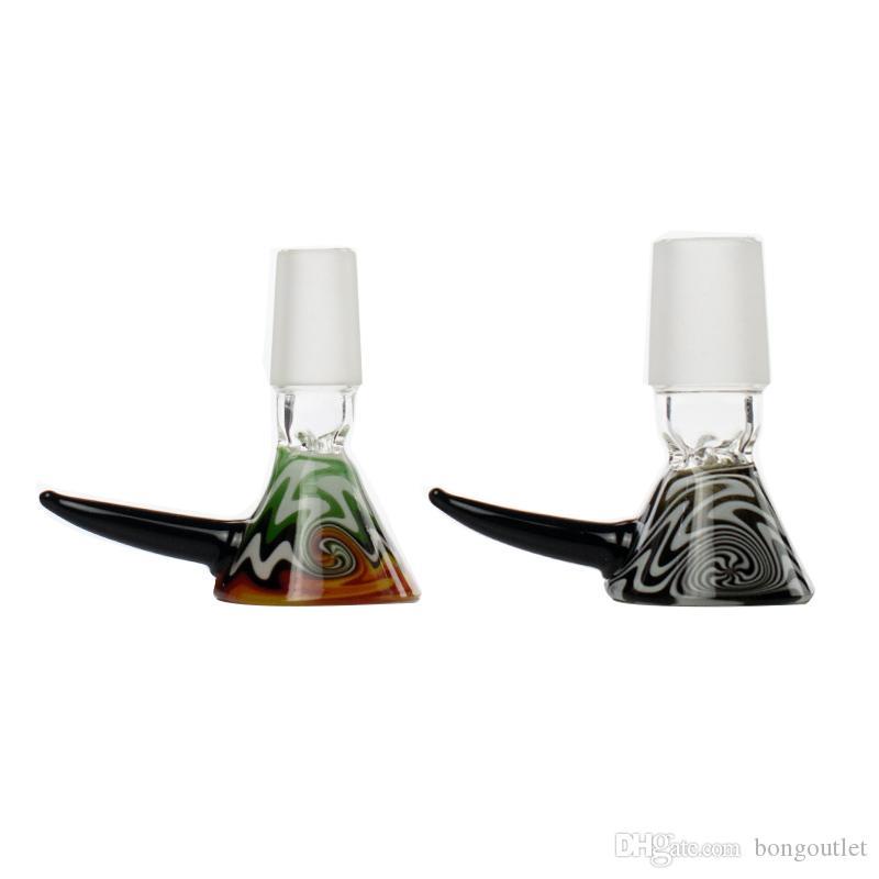 14mm 18mm männliche Glasraucherschale für Tabacco Water Pipe Bong Tägliche Verwendung