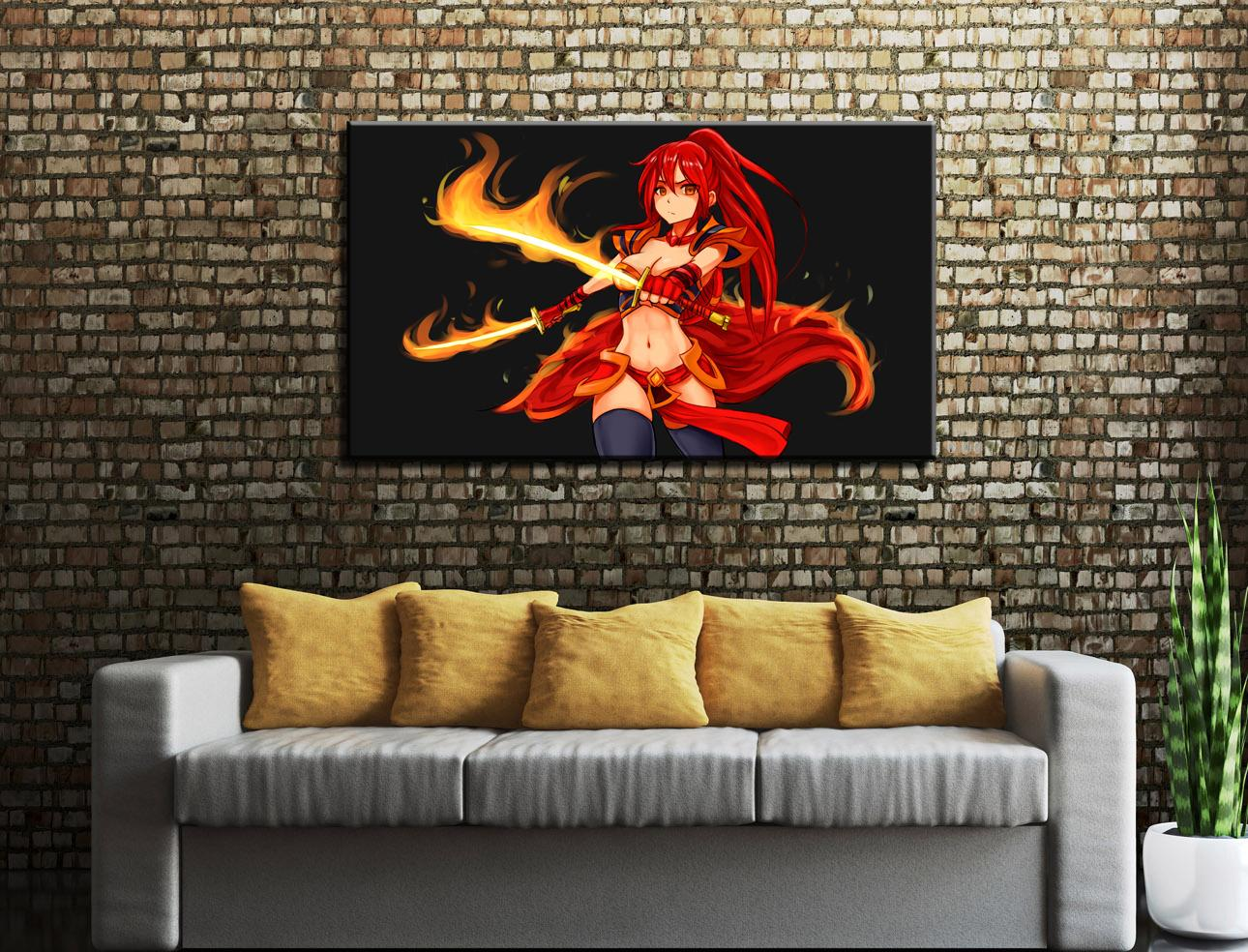 Dota 2 Girls Anime -1, Pintura em tela HD Printing New Home Decoração Arte / Unframed / emoldurados