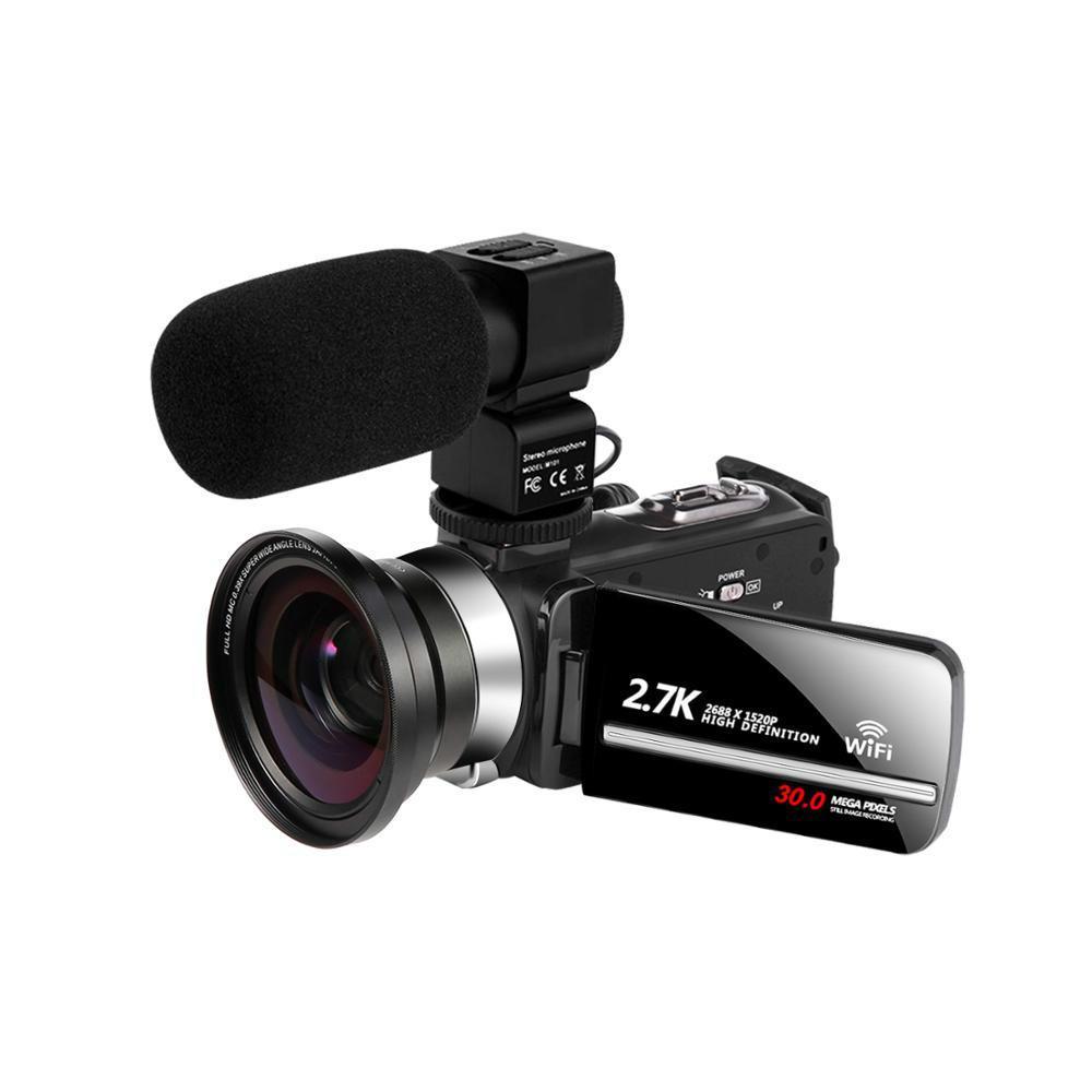 Видеокамера WiFi 2.7 K VLogging Видеокамера для youbute сенсорный экран 30mp 16x цифровой Zoom Handycam камера рекордер шумоподавление MIC