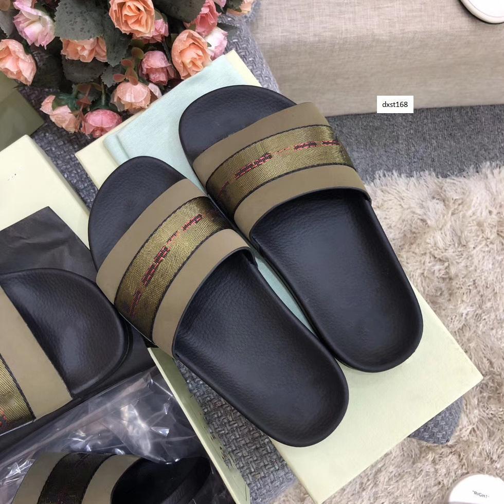 Heißer Verkauf Luxus-Designer Off-Freizeitschuhe Indoor-Strand Pantoffeln Weiß-Druck schatze Schuhe mit Boxs Größe 36