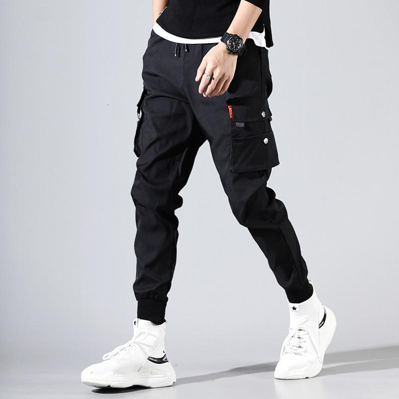 los hombres pantalones de hip hop hombre kpop pantalones de carga ocasionales flacos pantalones de chándal corredores MODIS streetwear pantalones pantalones de chándal harajuku CJ11911111