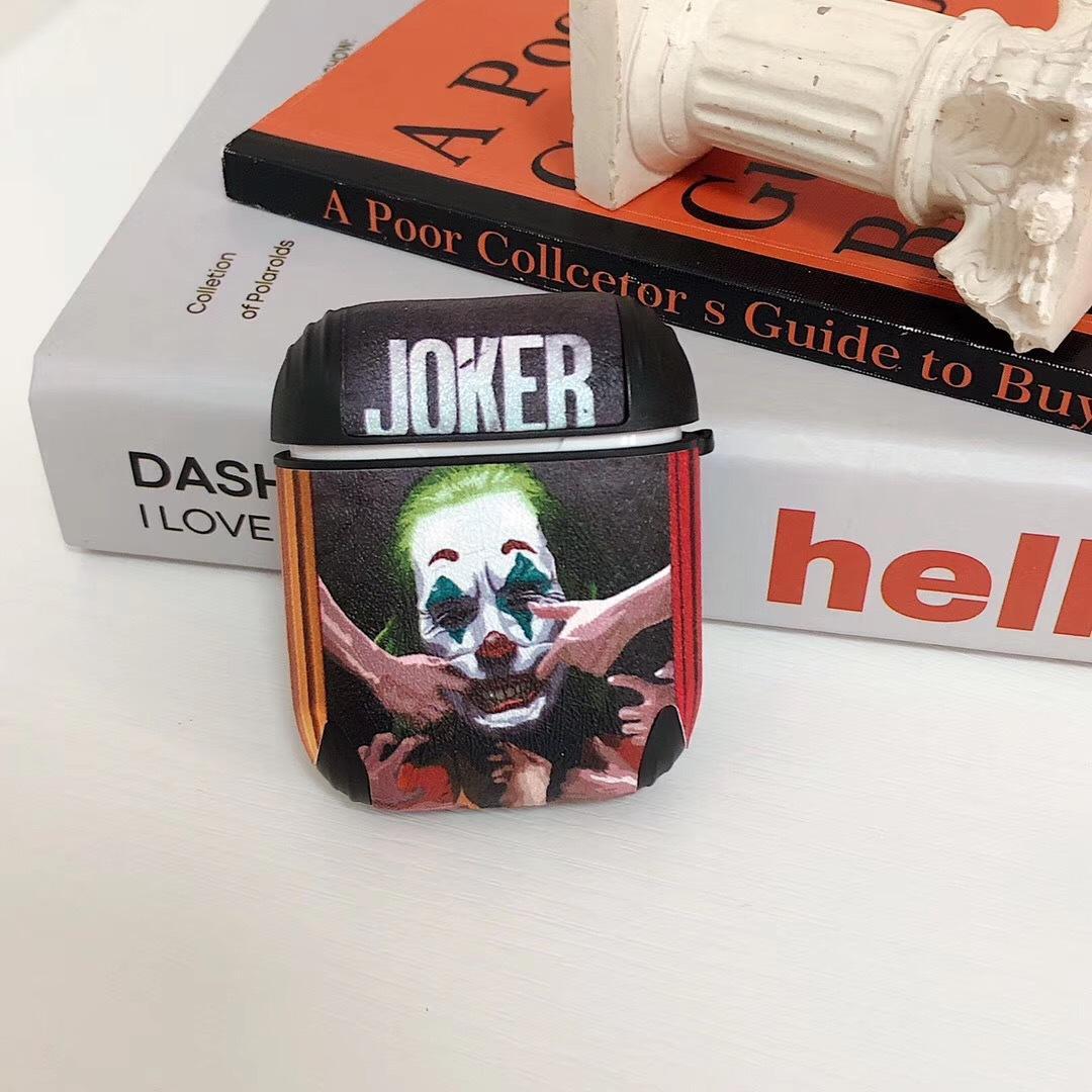 2020 Новый Airpods чехол для 1/2 Защитная крышка Joker Letter Печать Мода Клоун Беспроводная гарнитура Bluetooth устанавливает новый AIRPODS 2 Soft Shell
