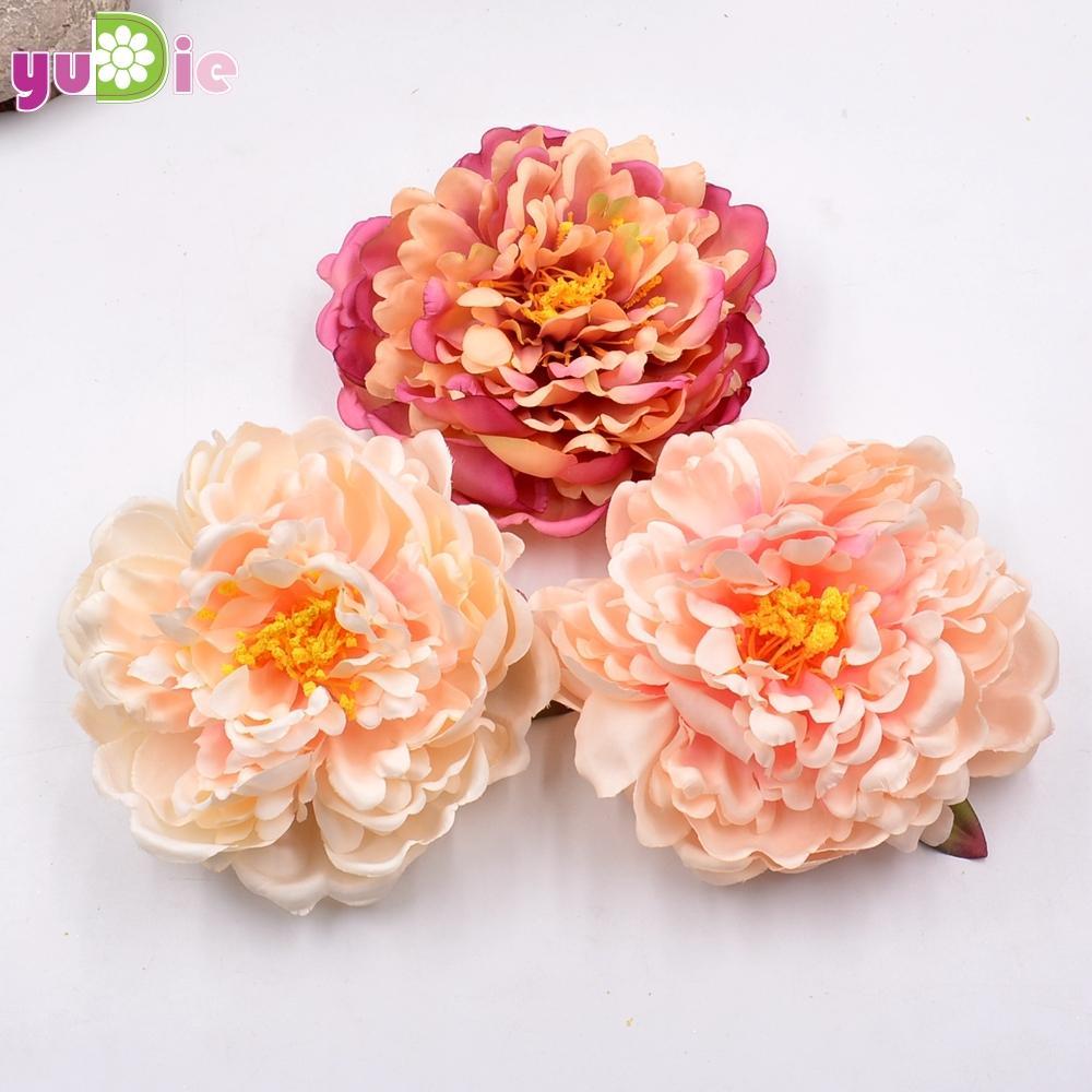 1шт большие искусственные цветы пион веер Bingbing тот же пункт шелковый костюм шпилька головной убор украшения для волос декоративный цветок