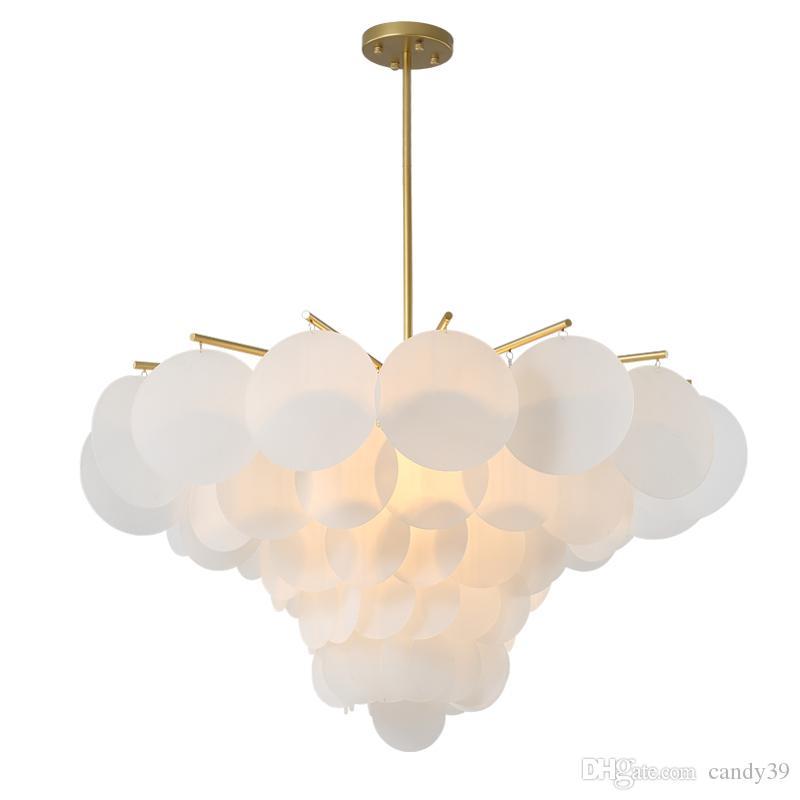 현대 LED 펜던트 조명 흰색 아크릴 꽃 매달려 램프 거실 Dinding 룸 침실 조명기구 PA0512