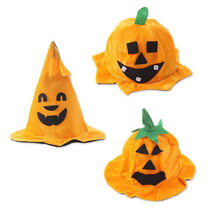 cappello 3styles zucca di Halloween cappello puntelli di prestazione zucca tappi costume zucca zucche a botte Dance Party regalo di favore FFA2984