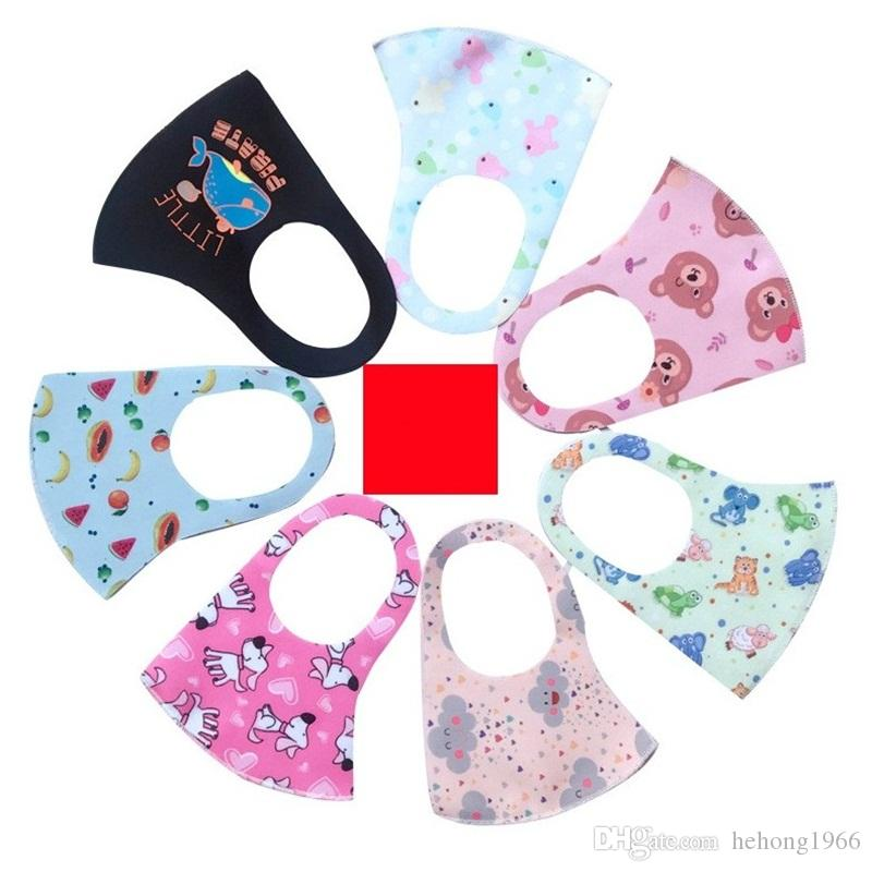 Yıkanabilir Toz Protect Maske Köpek Meyve Baskılar Buz İpek Karşıtı Splash Ve Splatte Yüz Ağız Maskeleri Güneşlik Çocuklar 1 5NQ E19 Maske