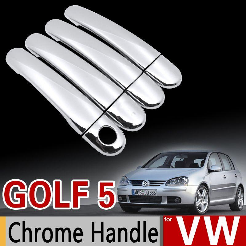 Chromgriffabdeckungs-Verkleidungssatz für VW Golf 5 mk5 Volkswagen Golf V 1K-Kaninchen GTI 2004 2005 2006 2007 2008 2009 Kfz-Zubehör