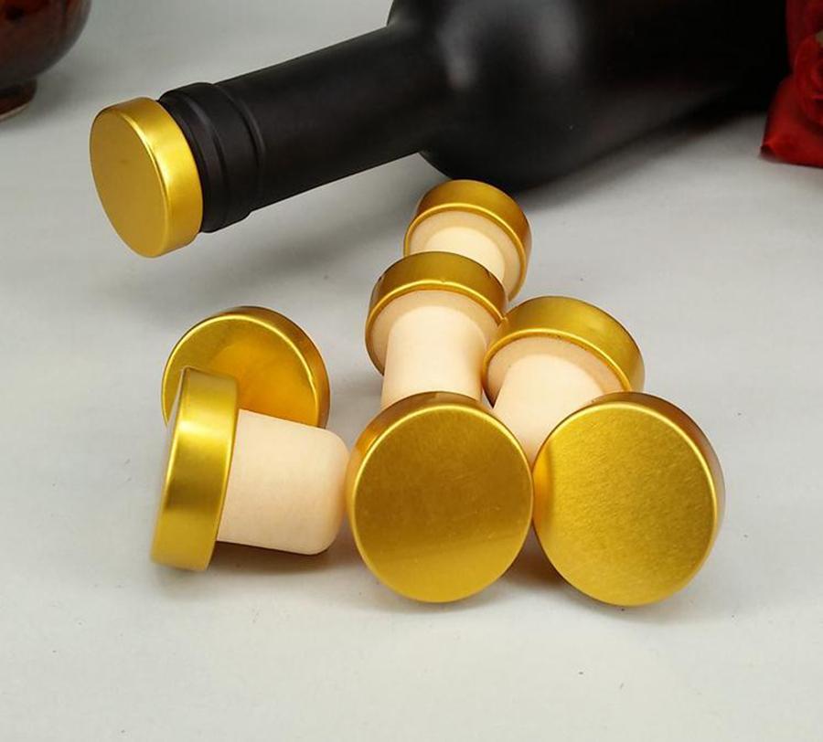 T-forme de vin Bouchon silicone Plug-liège Bouteille Bouchon Rouge Bouchon de vin Bouteille plug barre d'outils d'étanchéité pour la bière Cap Lièges RRA2838-3