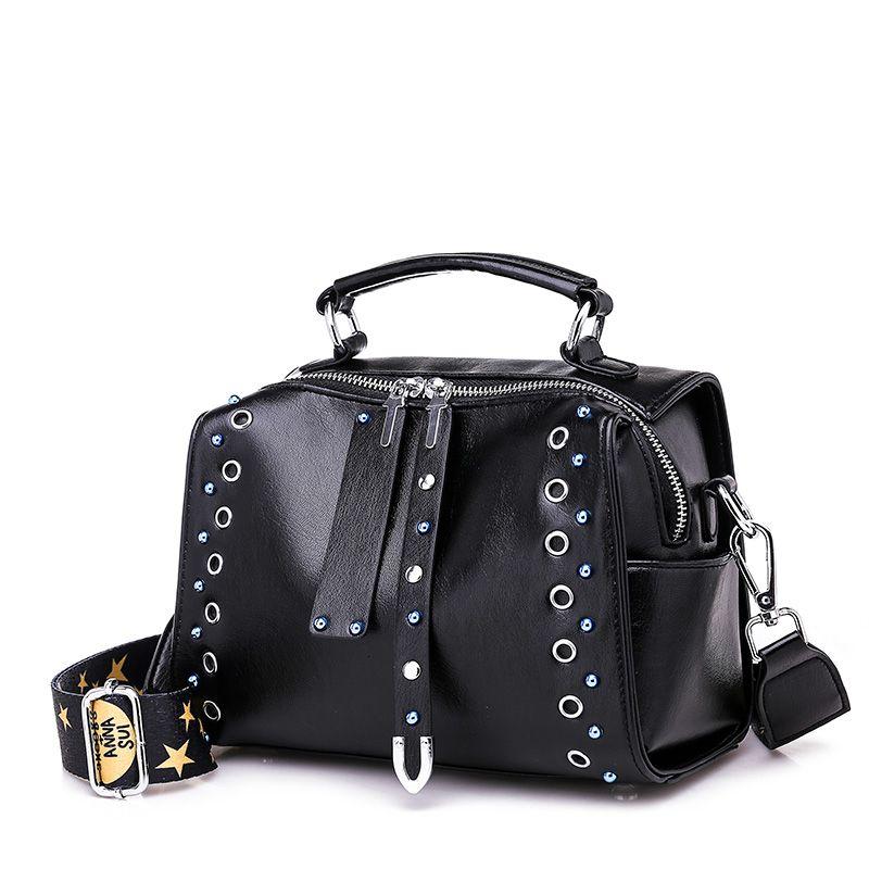 2019 remache bolso de las mujeres de primavera bolsas retro pu bolsos de las señoras bolso de cuero de la moda bolsa pequeña caída del hombro T190920 comercial