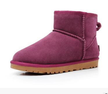 envío 012 Classic Tall botas para mujer de arranque de nieve botas de caída de la bolsa de cuero de arranque de arranque de invierno polvo certificado de alta calidad WGG de Mujeres