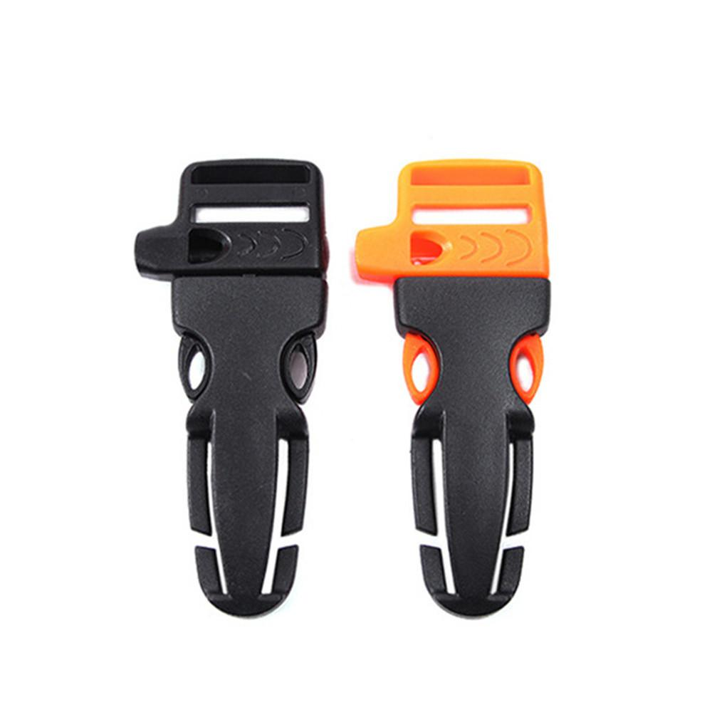 DHL o UPS DIY Hebilla de silbato de liberación lateral para pulsera Paracord / Mochila / Kits de supervivencia Correas Molle Hebilla Herramientas EDC al aire libre