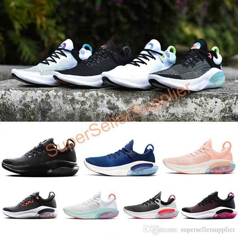 Nike Joyride Run Flyknit Femmes Chaussures de course Triple Noir Blanc Platinum Université Tint Rouge respirante Chaussures Hot Sale 36-45
