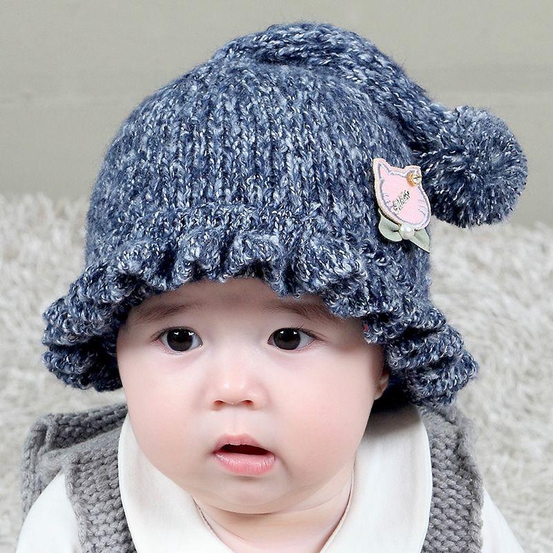 الذيل طويل الرباط فاتنة هان فنغ الرضع خليج قبعة الطفل قبعة صوف Mz2410