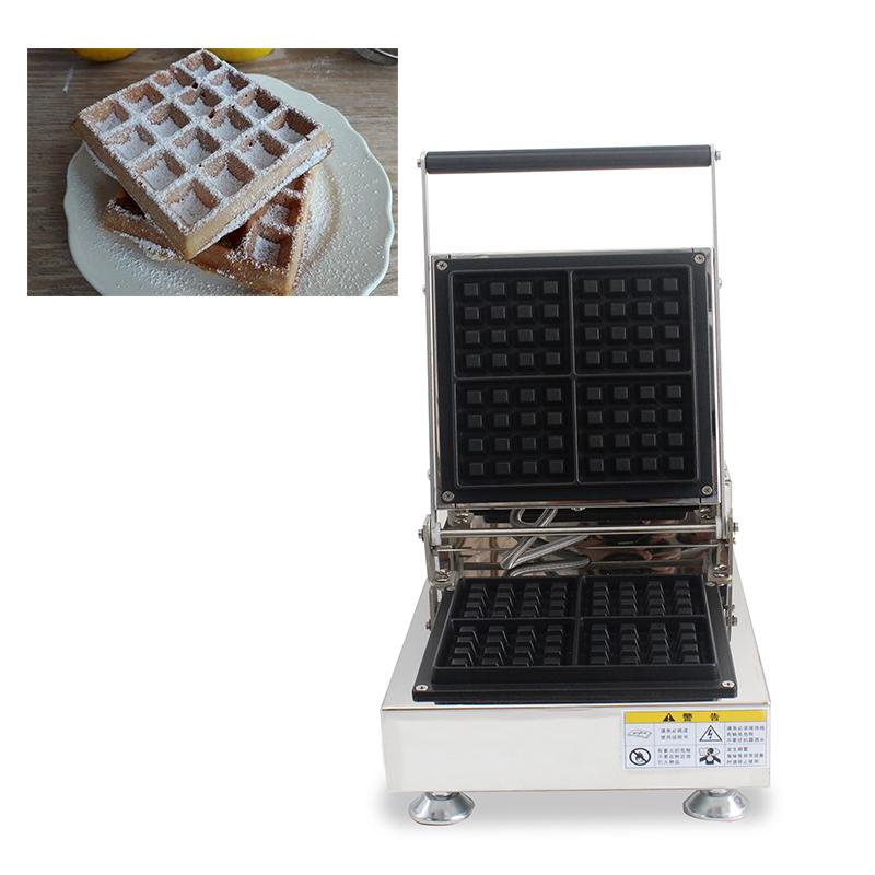 Commercial Use Belgian Liege Waffle Machine Electric 110v 220v Square Brussels Waffle Maker Iron Baker Oven Toaster