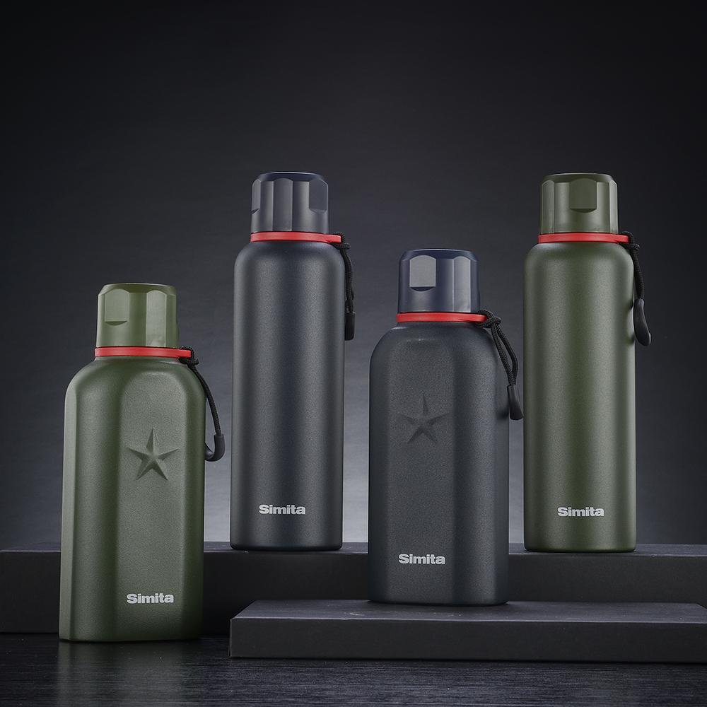 Simita Sport Stainless Steel Thermos Bottle Vacuum Flask Double Wall Insulated Portable Travel Mug Coffee Cup camping thermomug Y200107