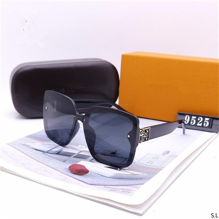 2020 Pearl Sunglasses Vintage Sun Glasses Points Metal Frame womanLuxuryDesignerBrand1GLouis1 G With Box