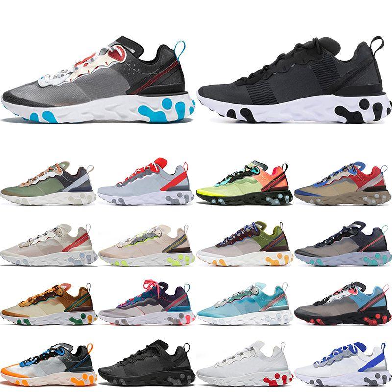 2020 siyah beyaz GÜNEŞ KIRMIZI Oribit Moss erkek nefes spor ayakkabı 36-45 stilist erkekler kadınlar için Eleman 55 87 koşu ayakkabıları Tepki
