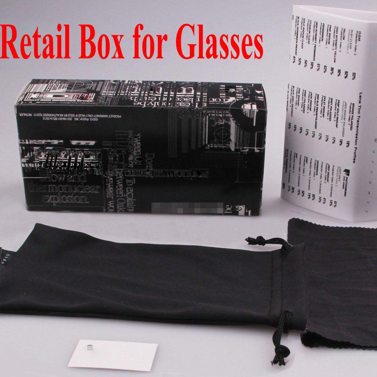 Pacchetti di vendita al dettaglio di occhiali da sole con scatola, custodia, panno, pacchetti retai di buona qualità Prezzo di fabbrica per occhiali da sole di marca