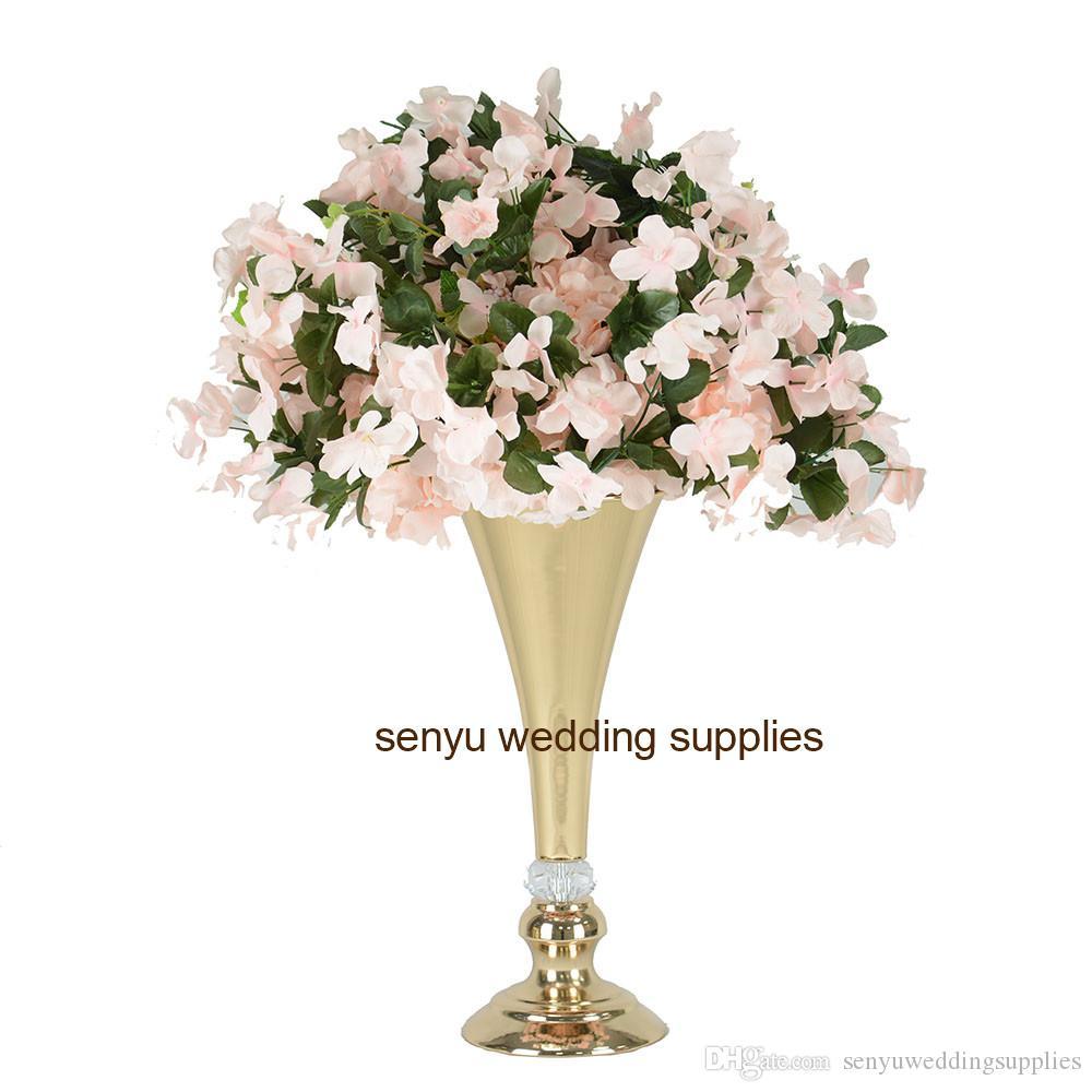 NEW! mental Modern Tall Stand Wedding Centerpiece gold Wedding flower stand senyu0141