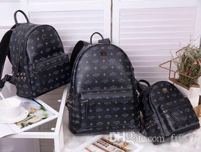 Rivet zaino più venduti Donne Borse Uomo Borse borsa a tracolla della borsa Portafoglio famoso Messenger Bags Totes sacchetto dell'unità di elaborazione Leather Fashion Designer