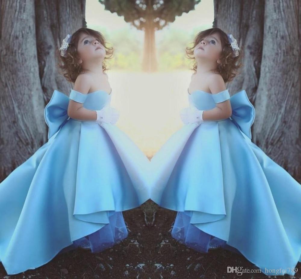 Маленькая девочка Дети Одежда Пром день рождения платье Тюль Цветочница Kid Pageant танец бальное платье принцессы Формальные Свадьба Повод