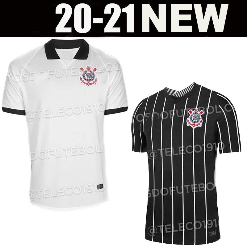 20 21 CORINTHIANS 2020 soccer jerseys home away ADSON RONALDO SOMOZA CLAYSON JANDERSON jersey black Paulista football
