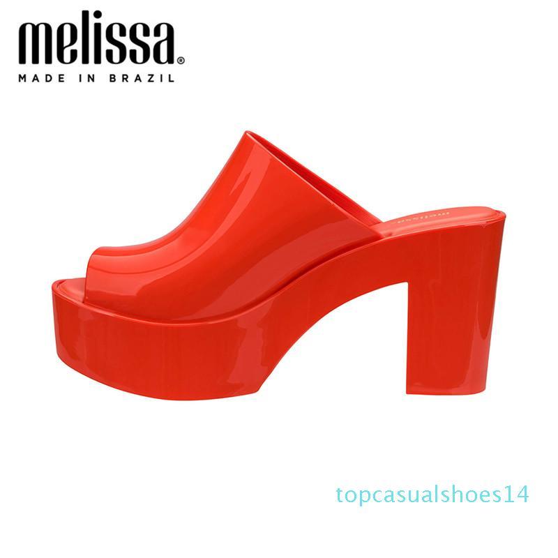 Melissa sandalias mujeres cuñas zapatos bombas tacones altos sandalias verano 2020 Flip Flop Chaussures Femme plataforma Sandalia Feminina t14