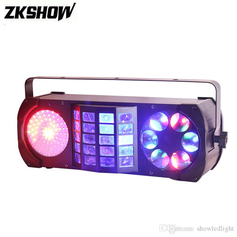 New Combination With SMD Laser Derby Gobo LED Effect Light IR DMX512 Luces Dj Disco Party Stage Lighting Equipment Free Shipping