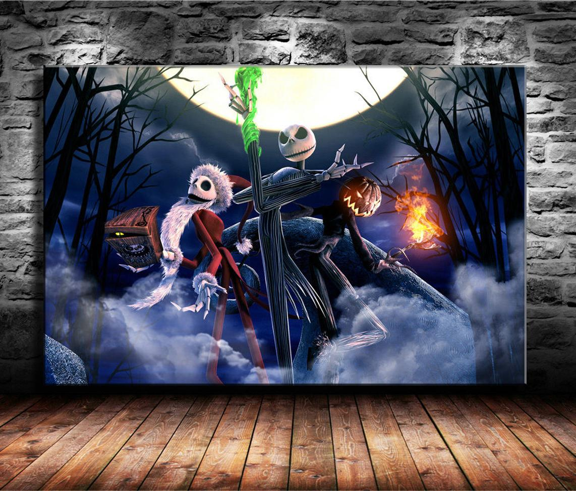 2020 Canvas Prints Wall Art Oil Painting Home Decor The Nightmare Before Christmas Tim Burton Unframed Framed 24x36 From Wumami $5 98