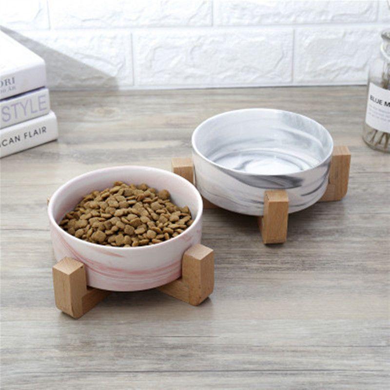 تجف السيراميك السلطانية الحيوانات الأليفة علبة الغذاء يعامل المياه للكلاب قطط الأكل أكثر راحة للهريرة والجرو التحمل 23JunO4 T200101