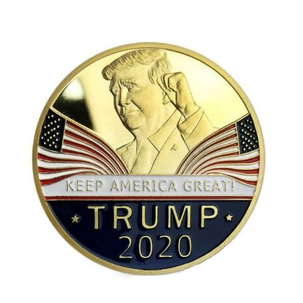 Trump discorso commemorativo della moneta America del Presidente Trump 2020 Collection Monete Crafts Trump Avatar Keep America Grandi monete WY082