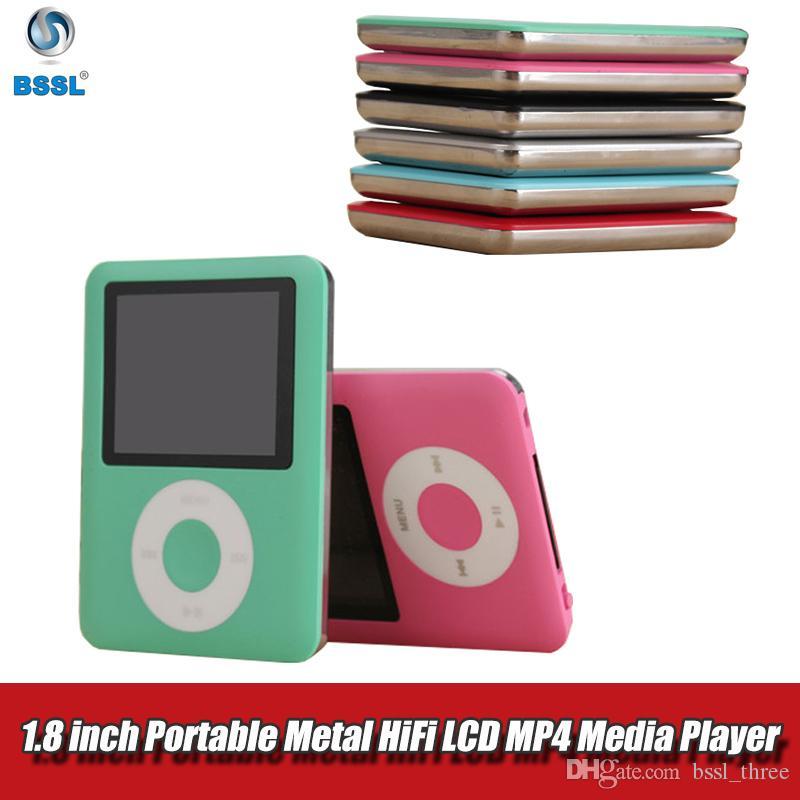 المحمولة MP4 المعادن هيفي مع راديو سماعات 1.8INCH شاشة LCD وسائل الإعلام 8GB لعبة فيديو فيلم FM مسجل كمان بلوتوث MP3 مشغل موسيقى