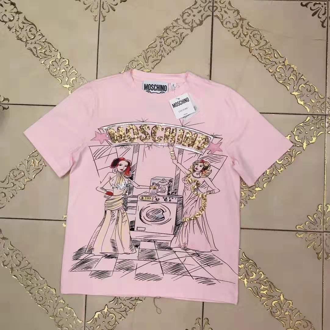 NEW Прибытие Brandshirts Designerluxury Женщины футболку моды блестки Письмо Повседневный Лето тройники высокого качества Роскошные девушки футболку HH3 B105586L