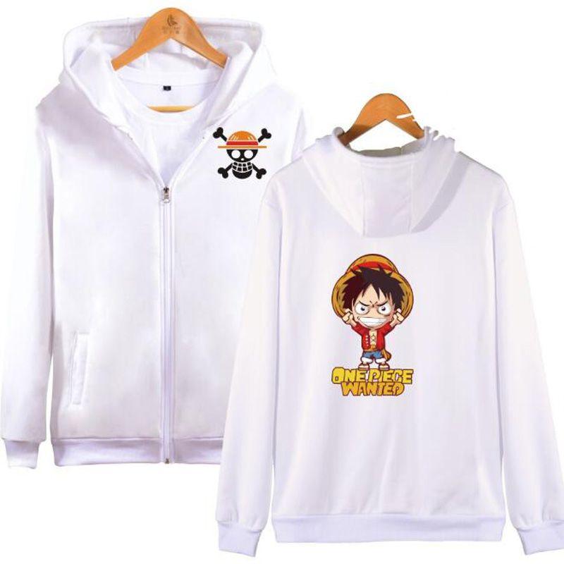 Anime One Piece zipper Men Hoodies Sweatshirts Monkey D Luffy Trafalgar Law Roronoa Zoro Japanese Streetwear Hip Hop Clothing