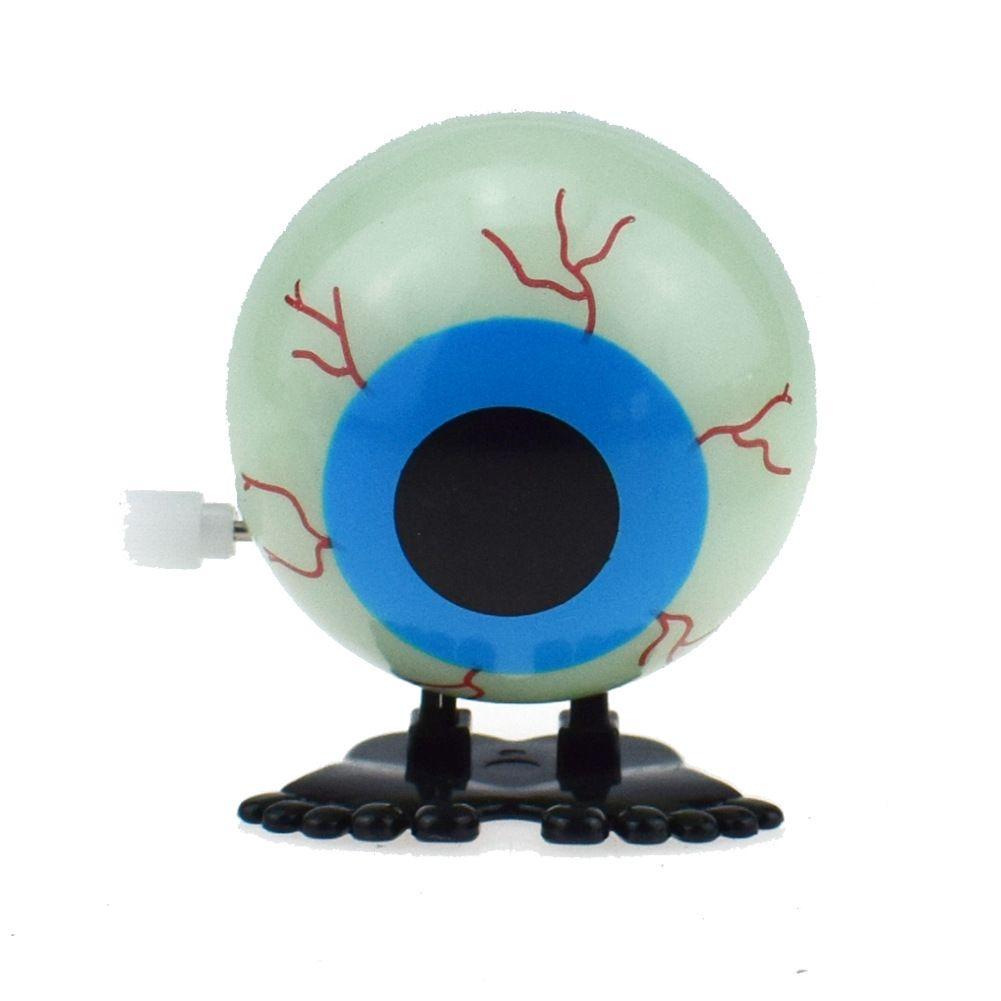Humor divertido del muelle de arrollamiento de cuerda de salto Efecto luz de la noche de Halloween gigante globo del ojo de la Navidad Pequeños regalos de juguetes