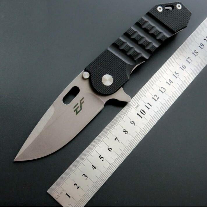 eafengrow EF36 D2 G10 de la lámina manija táctica de caza plegable del cuchillo del cuchillo de la supervivencia del bolsillo herramientas multi navidad