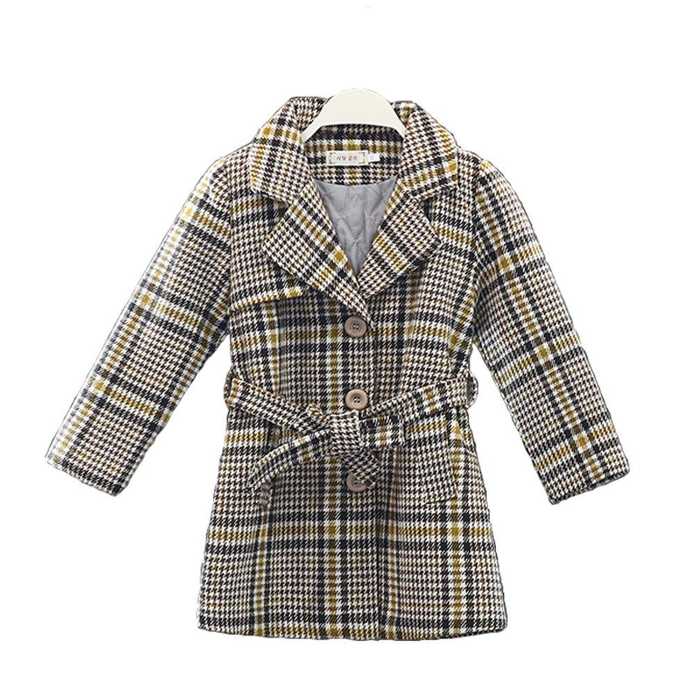 chica niños abrigo nueva capa de lana gruesa de invierno para niñas Adolescentes chaqueta caliente larga ropa de abrigo otoño Niños a prueba de viento 8 10 12 años