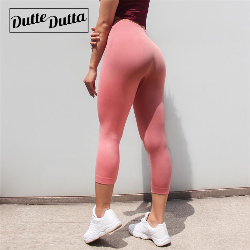 Tights Sportswear Woman Gym Yoga Pants Sports Wear Leggings For Fitness Leggins Sport Women High Waist Capris Women's Legging C19032801