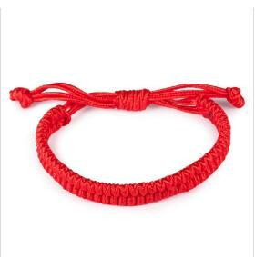 New Arrival Fashion Jewelry Handmade Double Layer Chinese Red Bracelets Lucky Adjustable Woman Charm Bracelet Rope Chain wy150