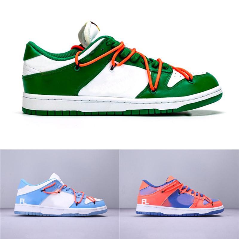 Virgil VA Futura SB Dunk Düşük Erkekler Kadın Spor Ayakkabı Üniversite Kırmızı Çam Yeşil Kaykay Tasarımcı Beyaz Spor Sneakers Boyutu 40-45 x
