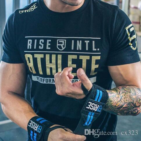 Erkek Kısa kollu Pamuklu Tişört Adam Ince Baskı t shirt Erkek Joggers Spor Salonları Spor Vücut Geliştirme Egzersiz Crossfit Marka Tees Tops