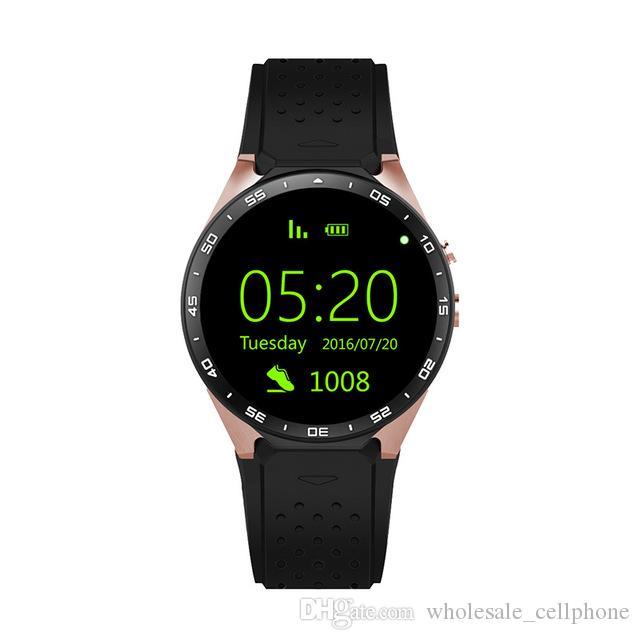 "KW88 GPS الذكية ووتش معدل ضربات القلب للماء WIFI 3G LTE ساعة اليد الروبوت 5.1 MTK6580 1.39 ""لبس أجهزة ووتش للحصول على الروبوت الهاتف اي فون"