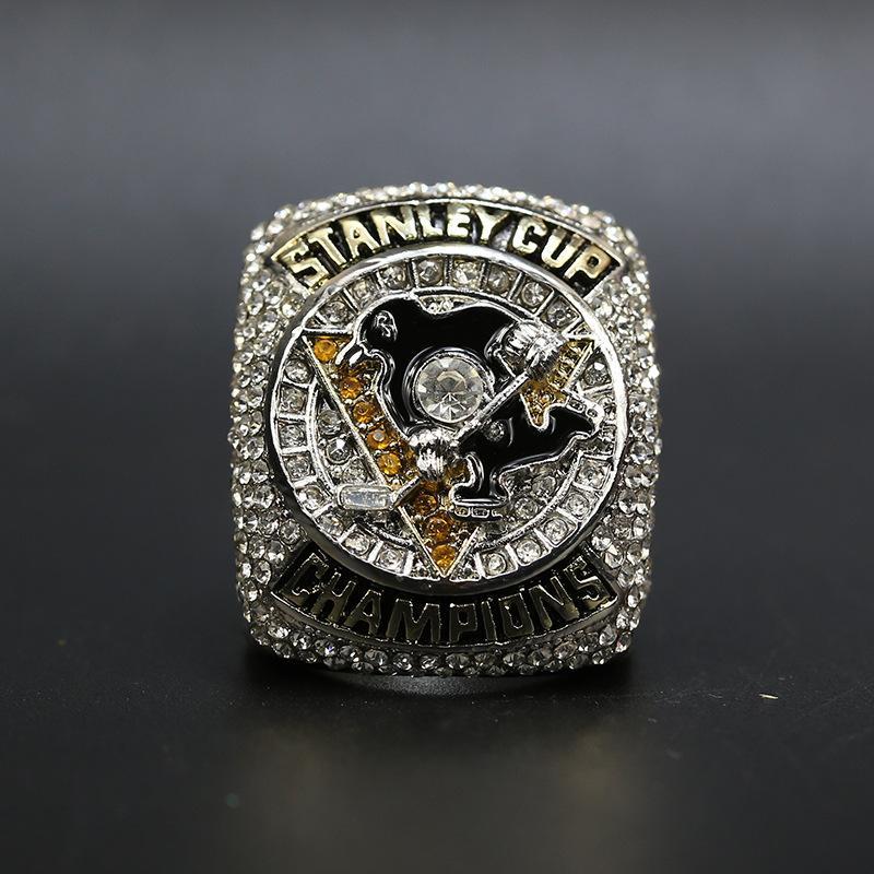 Yeni Gerçek Pittsburgh Penguenler Hokey Stanley Kupası Şampiyonası Yüzük Erkekler Hediye Ile Gönderim26