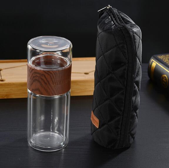 Двойные застекленные утепленные чайные листья чай разделительного стакана воды чая