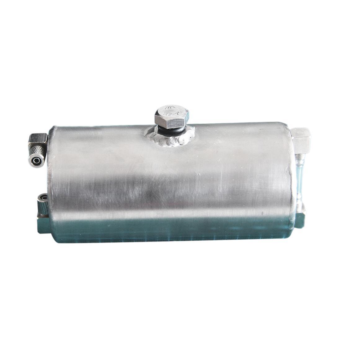 140ml DIY Handmade Modelo Acessório metal do tanque de combustível com nível de óleo Display para RC Gas Powered Model Car / Modificação