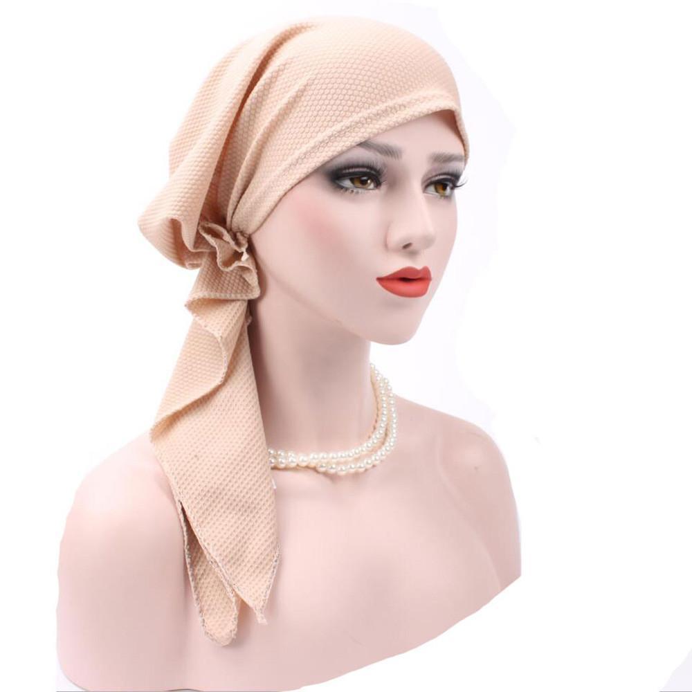 Hijab floreale stampato signore foulard donne India musulmano stretch turbante cappello di cotone capelli perdita di testa avvolgere la sciarpa A426