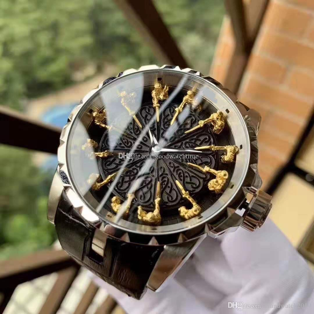 High quality Luxury mens watch King series EXCALIBUR RDDB0511 Twelve 18K gold knight stainless steel watches mechanical Automatic Wristwatch