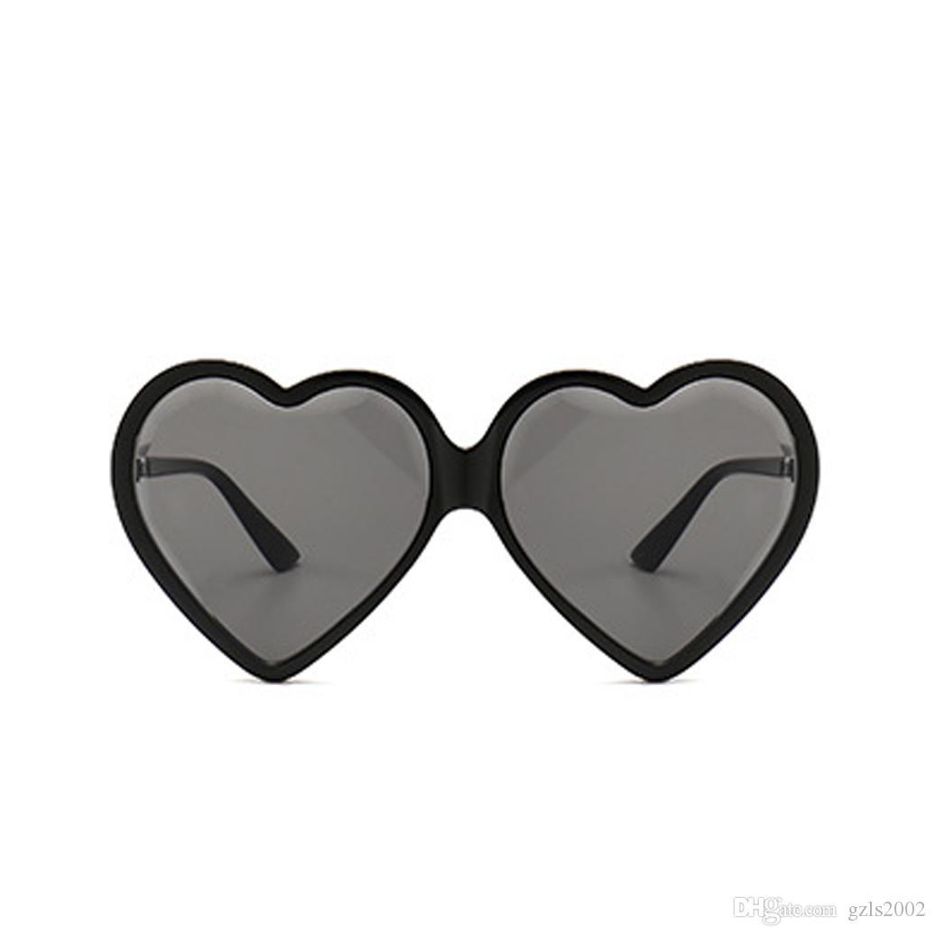 Big Heart Frete Estilo Drop Women Frame 20 Pçs / Lot Color Quatro óculos de sol 2021 Rerou