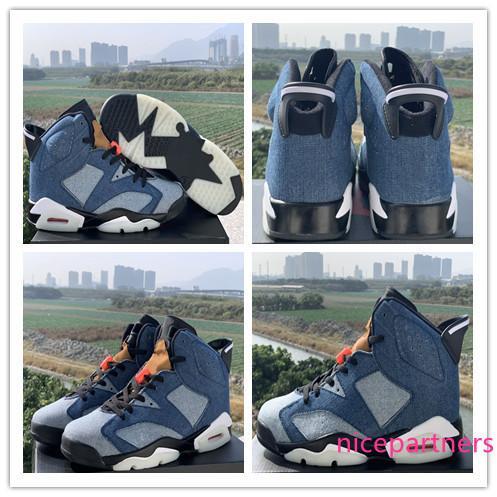 2019 Washed Denim Infrared Bred VI 6 6s Infrared 23 3M reflexiva Tinker Homens Afundanço CNY trigo Sports Sneakers Designer Com