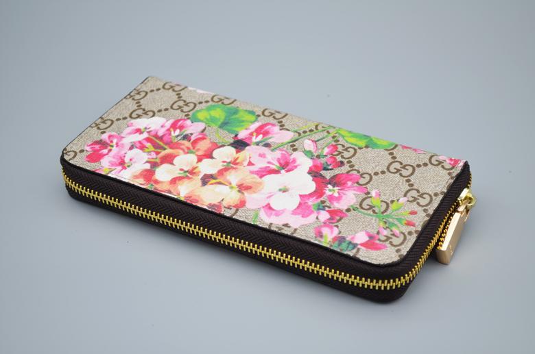 Designer Ladies Geranium Imprimir longo do Zip carteira